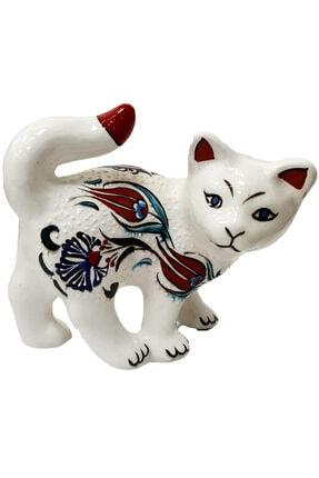 Otogar Çini El Yapımı Çini Kedi Biblo 0