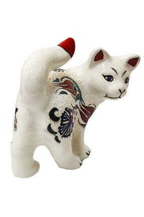 Otogar Çini El Yapımı Çini Kedi Biblo 4