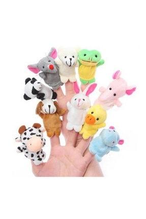 cosy home gift 10 Adet Aile El Peluş Parmak Kukla Oyuncak Hobi Çocuk Eğitim Hayvanlı Set Sevimli Kuklalar 1