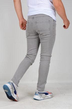 Edwox Erkek Skinny Jean Kot Pantolon Gri 2