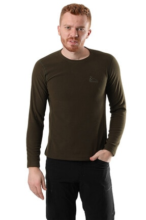 Climbolic Erkek Haki Polar Sweatshirt 3