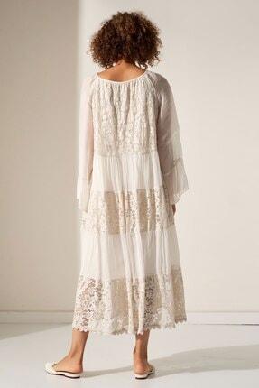 Camena V Yaka Dantel Detaylı Elbise 2019070500161 2