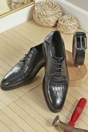 LUXXO Erkek Siyah Dukans Hakiki Deri Klasik Ayakkabı 11249 0