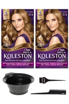 Wella 2'li Koleston 7/3 Kit Boya Fındık Kabuğu Ve Saç Boyama Seti 0