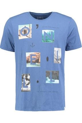 Erkek Mavi Baskılı T-Shirt resmi
