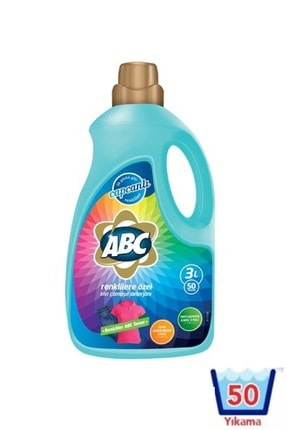 ABC Sıvı Çamaşır Deterjanı Renkliler 3 lt 0