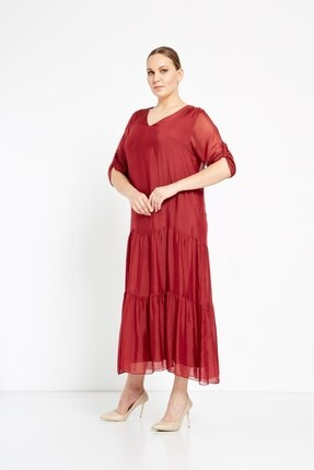 Camena V Yaka Ipek Elbise 2019070500172 1