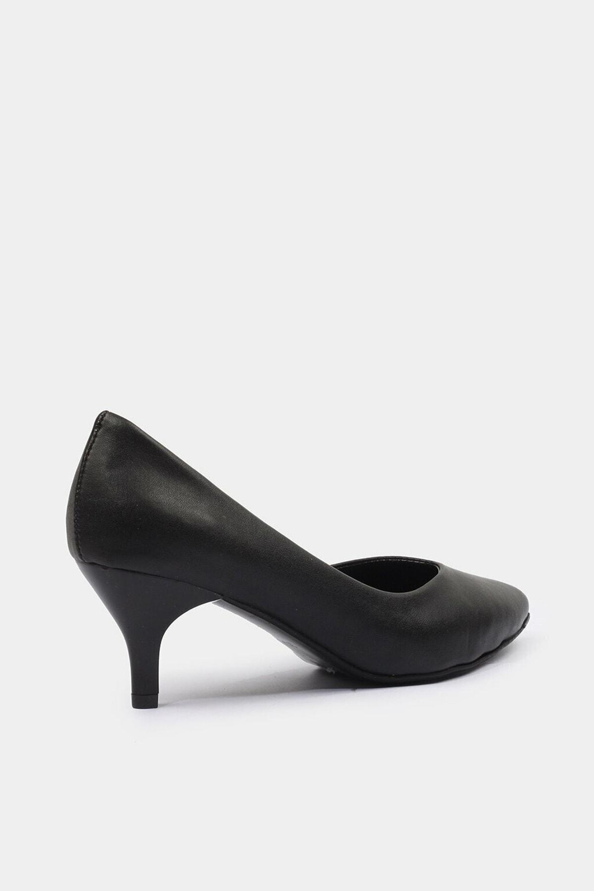Hotiç Siyah Yaya Kadın Topuklu Ayakkabı 2