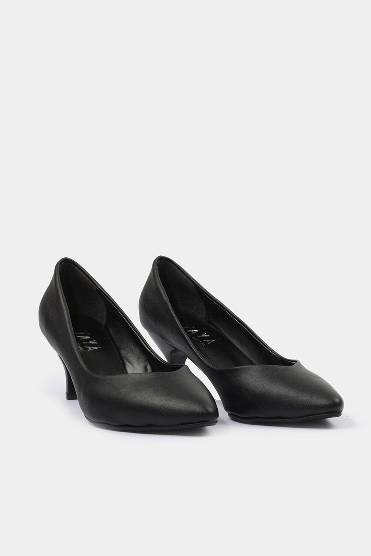 Hotiç Siyah Yaya Kadın Topuklu Ayakkabı 3