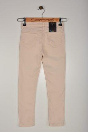 Sercino Kız Çocuk Bej Yazlık Pantolon Src5523 0