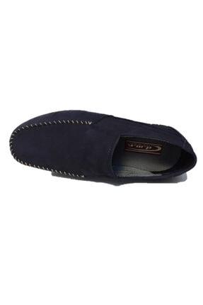 DMR Erkek Lacivert Hakiki Gerçek Nubuk Deri Bağcıksız Hafif Loafer Ayakkabı 1