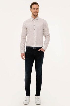 Pierre Cardin Erkek Bej Slim Fit Gömlek 3