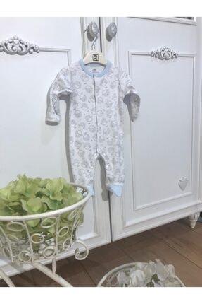 Erkek Bebek Mavi Sweet Lamb Newborn Yenidoğan Tulum resmi