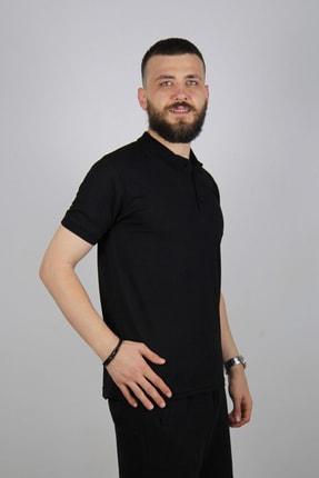 Blackcoach Erkek Siyah Jakarlı Polo Yaka Slim-fit T-shirt 0