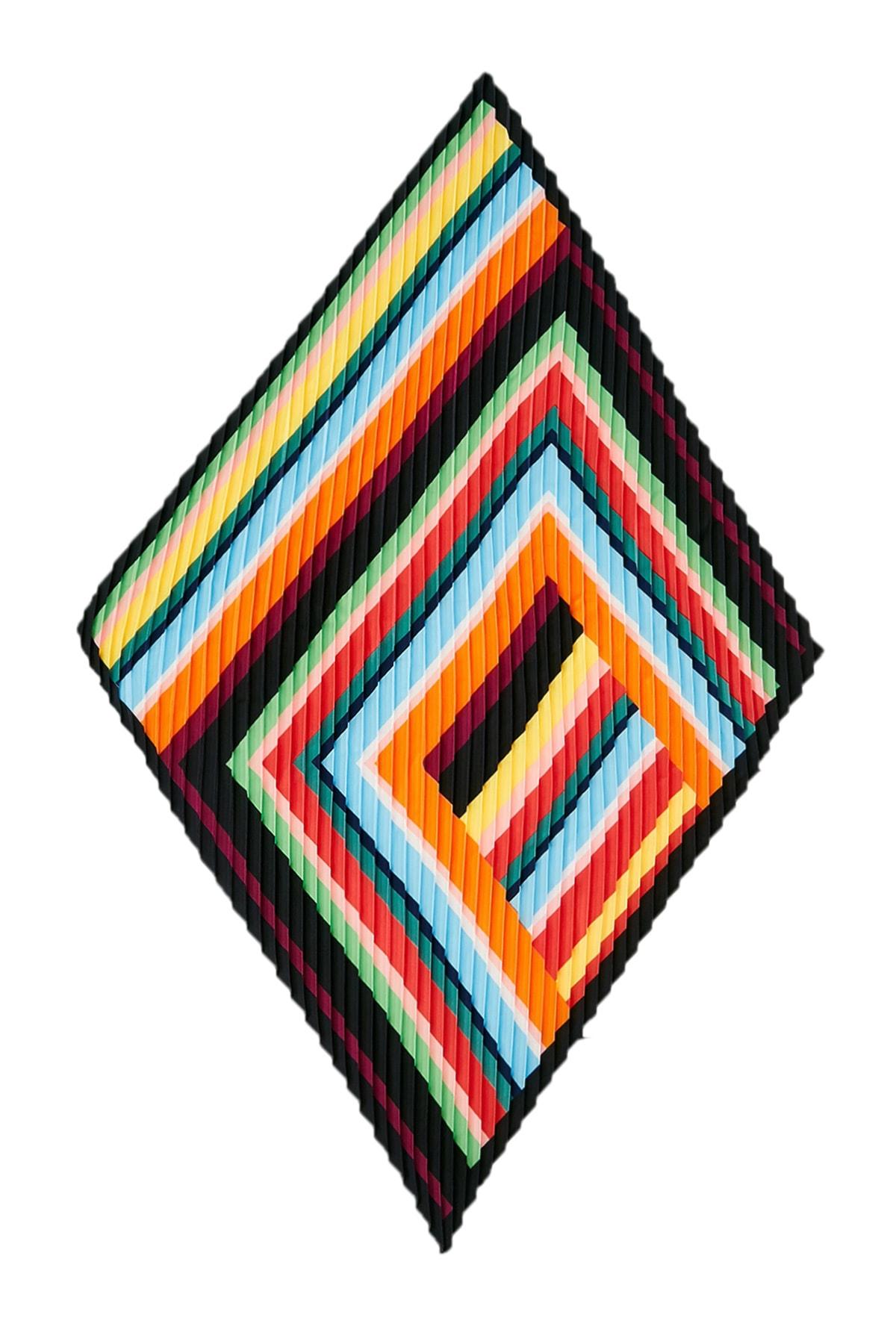 Sateen Kadın Renkli Piliseli Fular Stn826Kfl101 2