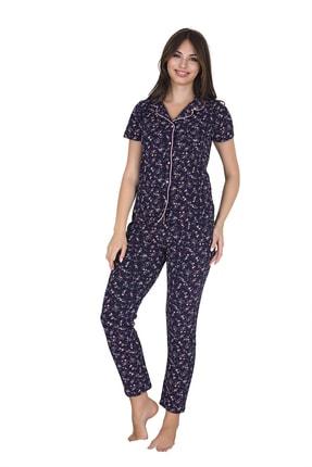 Sensu Kadın Kısa Kollu Cepli Pijama Takımı 0