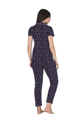 Sensu Kadın Kısa Kollu Cepli Pijama Takımı 1