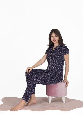 Sensu Kadın Kısa Kollu Cepli Pijama Takımı 2