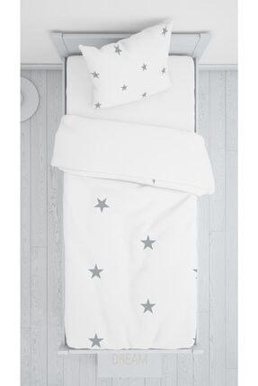 halımarkt Gri Yıldızlı Yatak Örtüsü Takımı Hm-b19 0