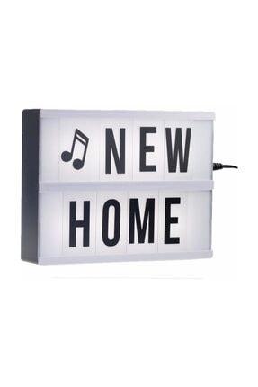 Patladı Gitti Lightbox A5 Led Işık  Işıklı Mesaj Panosu 60 Harf Light Box Pano 4