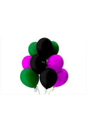 KullanAtParty Açık Yeşil-Fuşya-Siyah Pastel Soft Balon 25 Adet 0