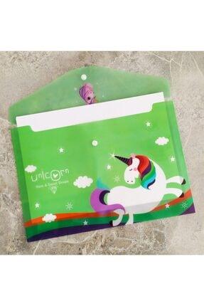 Şeker Ofisi Sevimli Unicorn Yeşil A4 Çıtçıtlı Dosya 1