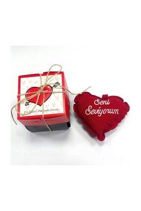 KRAUSBERG Sevgiliye Hediye Patlayan Aşk Kutusu Seni Seviyorum Yazılı Yastıkla 2