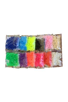 RENGARENK KIRTASİYE Rengarenk Kırtasiye Hama Tipi Tasarım İçin Poşet Boncuk (12 Renk ) 1