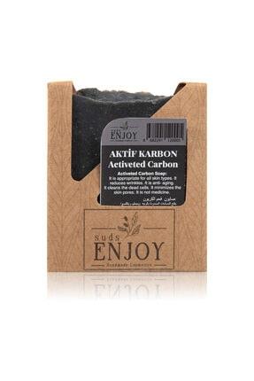 Enjoy Doğal Aktif Karbon El Yapımı Yüz, Saç Ve Vücut Sabunu 100 gr 0