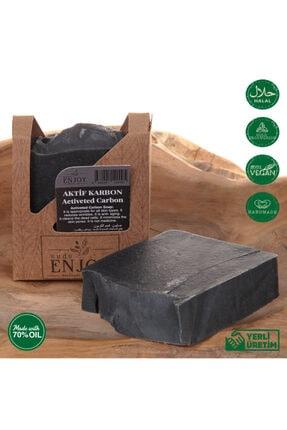 Enjoy Doğal Aktif Karbon El Yapımı Yüz, Saç Ve Vücut Sabunu 100 gr 2
