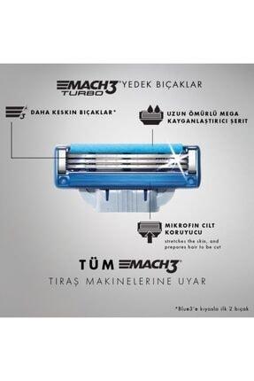 Gillette Mach 3 Turbo 12'li Yedek Tıraş Bıçağı 1