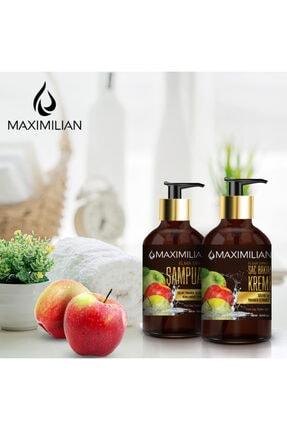 Maximilian Glutensiz Kepek Yağlı Saçlar için Yağlı Saç Bakımı Kepek Karşıtı Doğal Elma Sirkeli Şampuan 500 ml 2