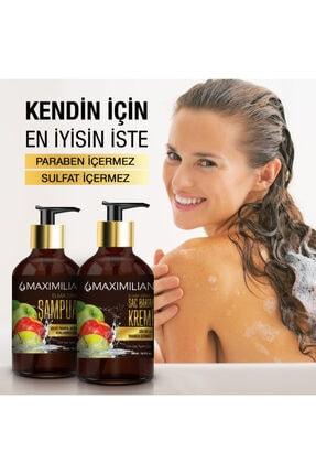 Maximilian Glutensiz Kepek Yağlı Saçlar için Yağlı Saç Bakımı Kepek Karşıtı Doğal Elma Sirkeli Şampuan 500 ml 3