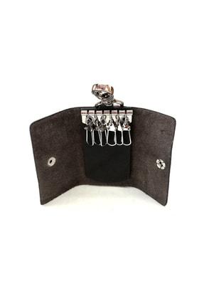 Cascades Leather %100 Hakiki Doğal Deri Siyah Renk 6'lı Anahtarlık 2