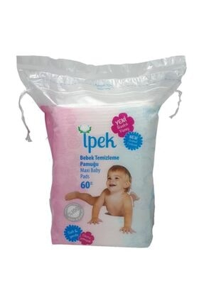 İpek Maxi Bebek Temizleme Pamuğu 60'lı x 16'lı Paket 3