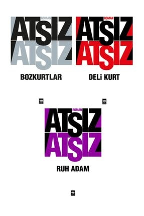 Olimpos Yayınları HÜSEYİN NİHAL ATSIZ 3'LÜ SET BOZKURTLAR- DELİ KURT-RUH ADAM 0