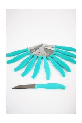 Çanak Sepeti Paslanmaz Çelik Meyve Sebze Bıçağı 12'li Turkuaz 0