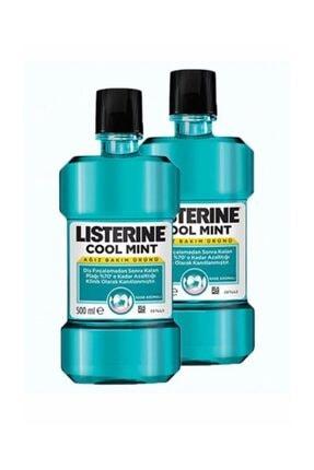 Listerine Ağız Bakım Suyu Cool Mint 500 ml  x 2 Adet 0