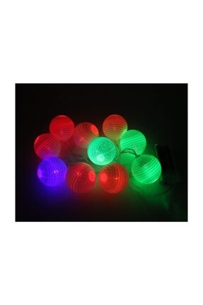 Süsle Baby Party Ledli Toplar Dizini Pilli Işık, 2,00 mt, Çok Renkli Led 4