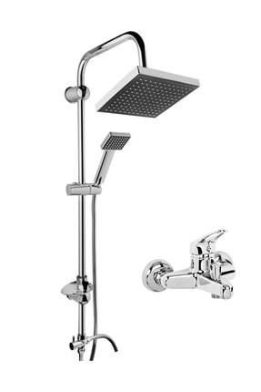 morponi Robot Kare Tepe Duş Sistemi Çok Fonksiyonlu Yağmurlama Duş Seti  Aç Kapa Banyo Bataryalıııı 0