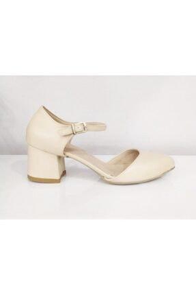 PUNTO Kadın Bej Tek Bant  Topuklu Ayakkabı 527078z 0