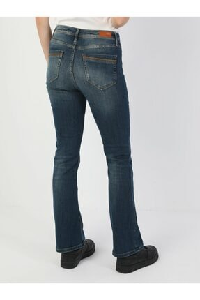 Colin's 791 Monica Normal Kesim Normal Bel Çizme Paça Koyu Mavi Kadın Pantolon .CL1048929_Q1.V1_DN40906 2
