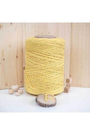 BalonEvi Sarı Makrome Ipi 250 gram 0
