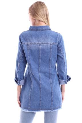 My Style Kadın Buz Mavi Dilek Kot Ceket 4