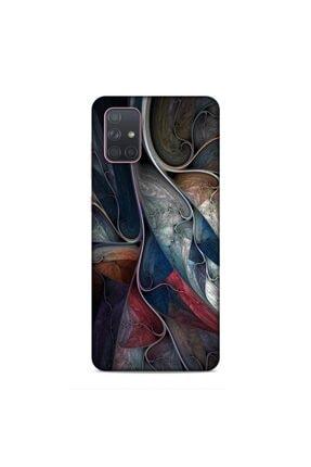 Pickcase Samsung Galaxy A71 Kılıf Desenli Arka Kapak Kumaş Geçişleri 0