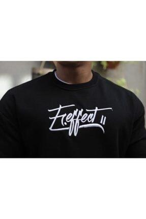 FAST EFFECT WEAR Fast Effect Erkek Onu Nakis Baskili Siyah Oversize Sweatshirt 3