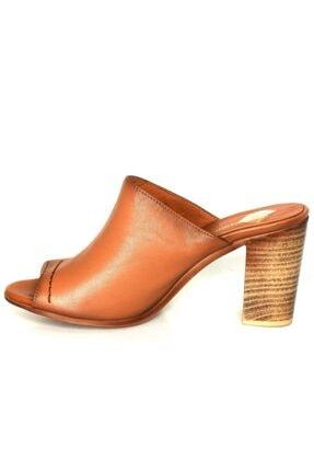 Mammamia Kadın Taba Deri Topuklu Ayakkabı 2