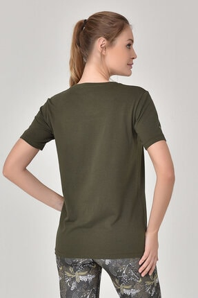bilcee Haki Kadın T-Shirt GS-8618 4