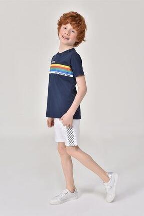 bilcee Unisex Çocuk Lacivert T-Shirt GS-8145 1