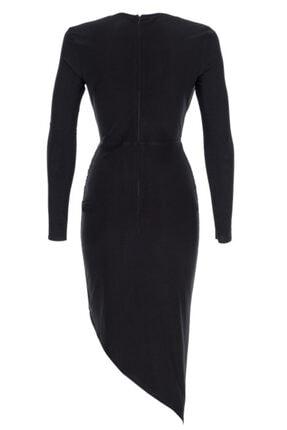Lora İstanbul Kadın Siyah Midi Elbise 1